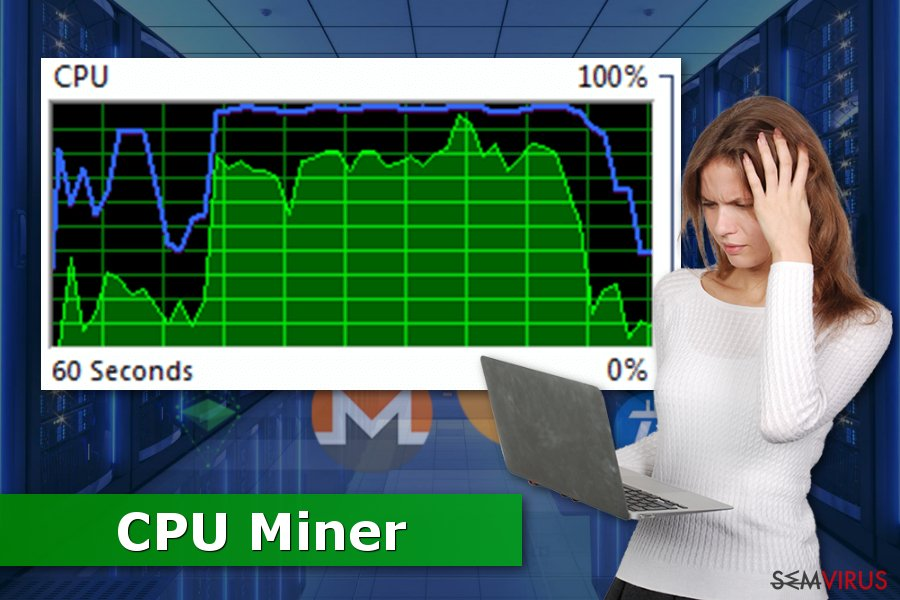 Fotografia do CPU Miner