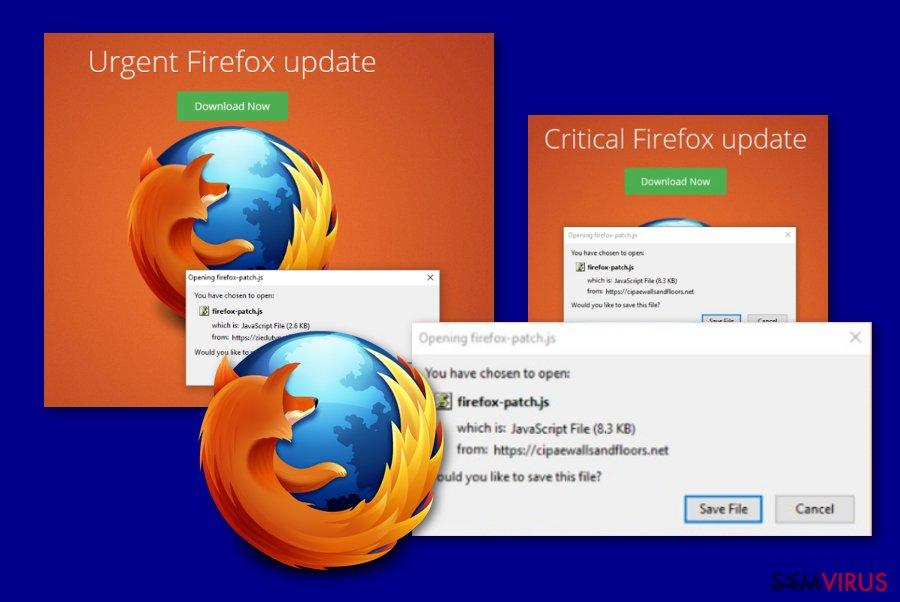 Mensagem Critical Firefox Update