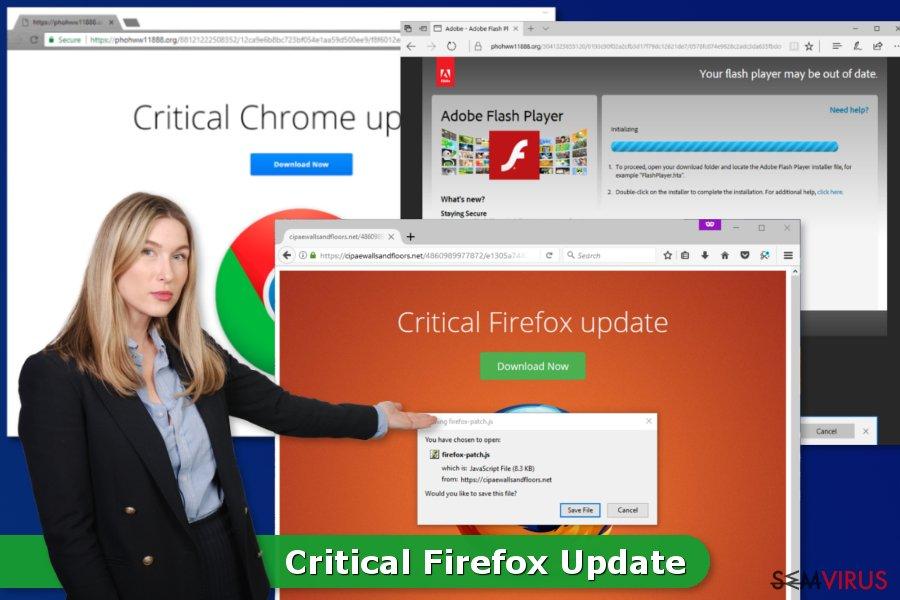 Vírus Critical Firefox Update