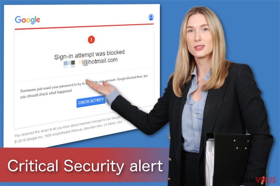 Ilustração do Alerta de Segurança Crítico