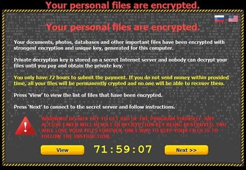 Critroni Ransomware instantâneo