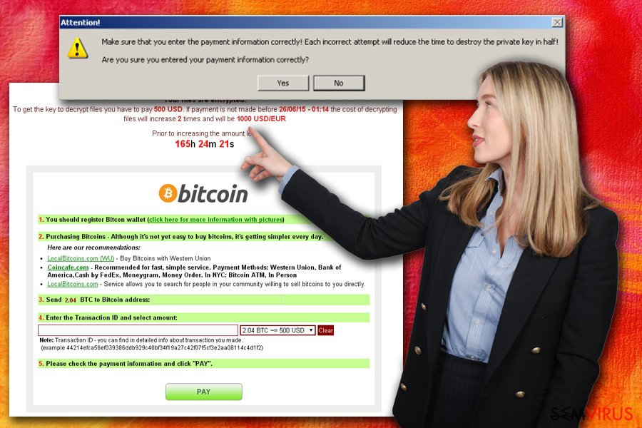Alerta do CryptoLocker