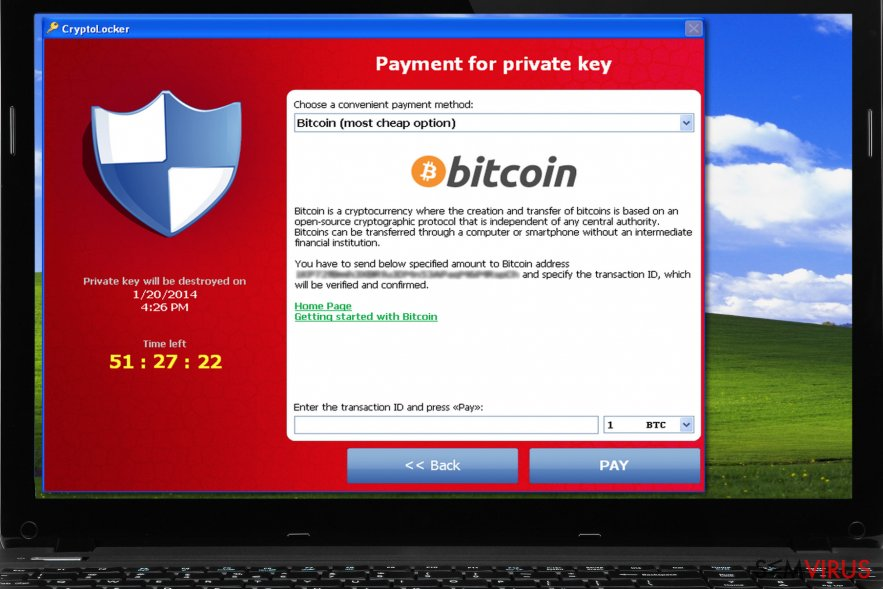Versão original do vírus CryptoLocker