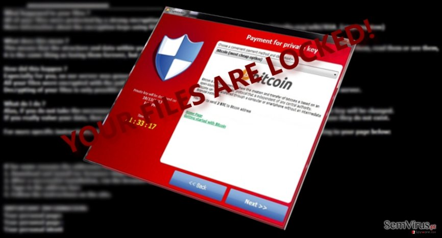 The picture displaying CryptoTorLocker