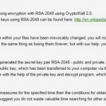 CryptoWall 2.0 virus instantâneo