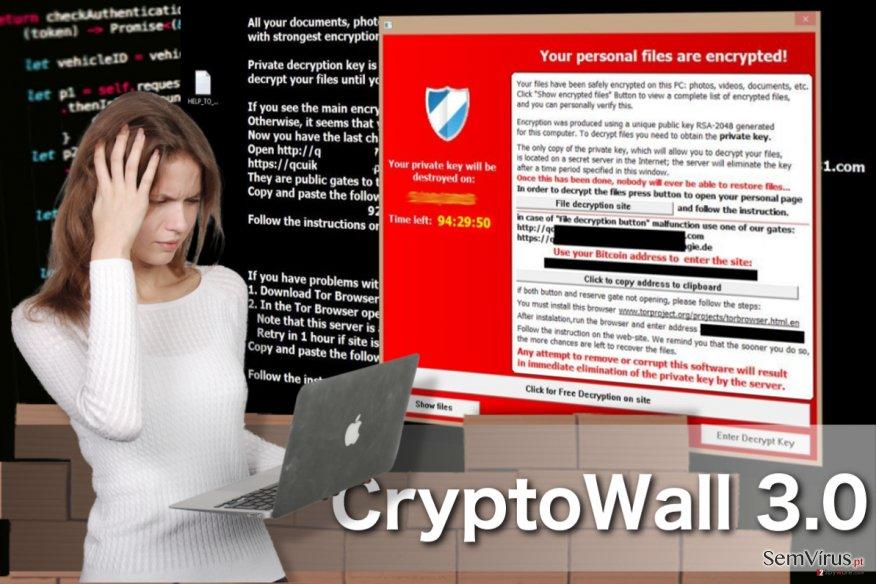 CryptoWall 3.0 virus instantâneo