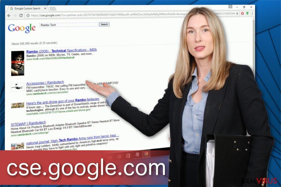 Ilustração do vírus Cse.google.com