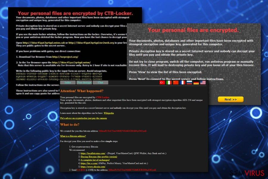CTB Locker virus instantâneo