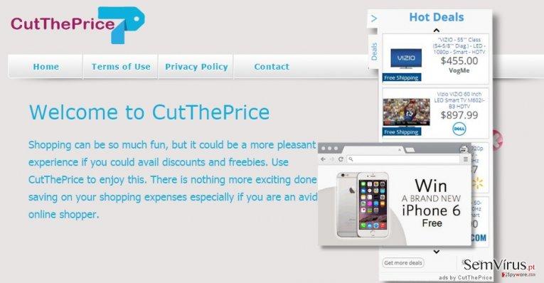 Anúncios de CutThePrice instantâneo