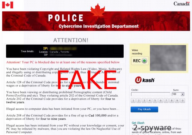 Cybercrime Investigation Department virus instantâneo