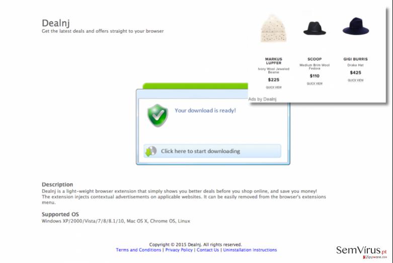 Dealnj adware download page