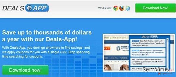 Anúncios por Deals App instantâneo