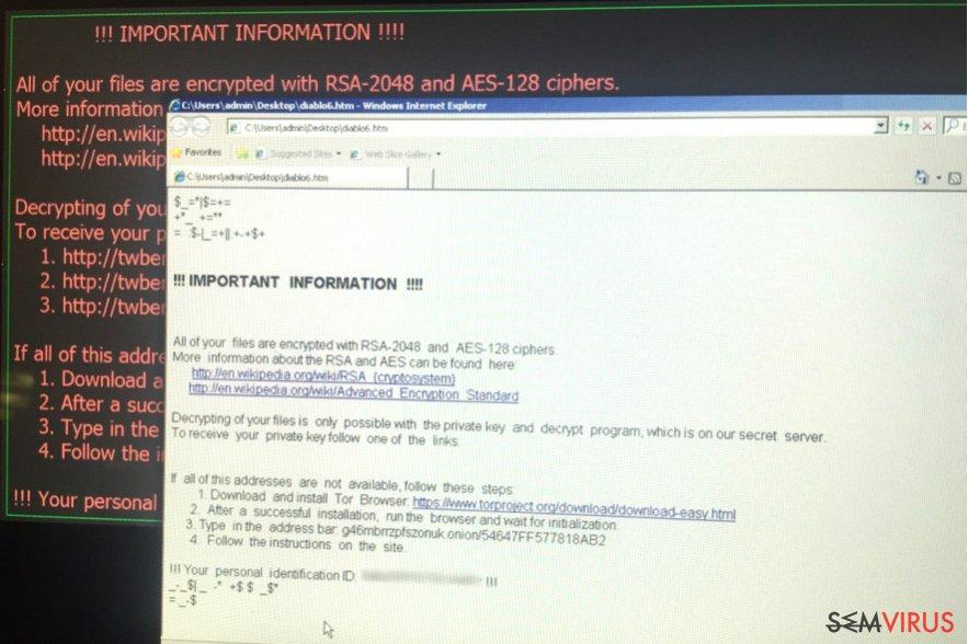 Diablo6 ransomware virus