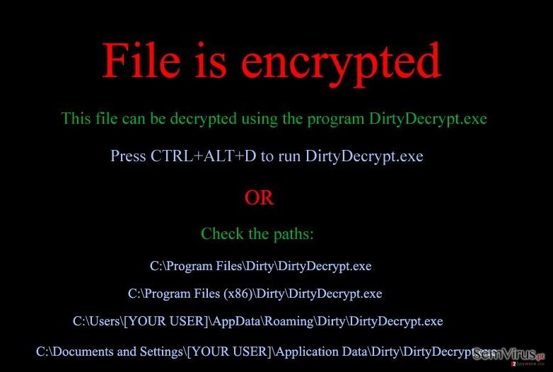 DirtyDecrypt instantâneo