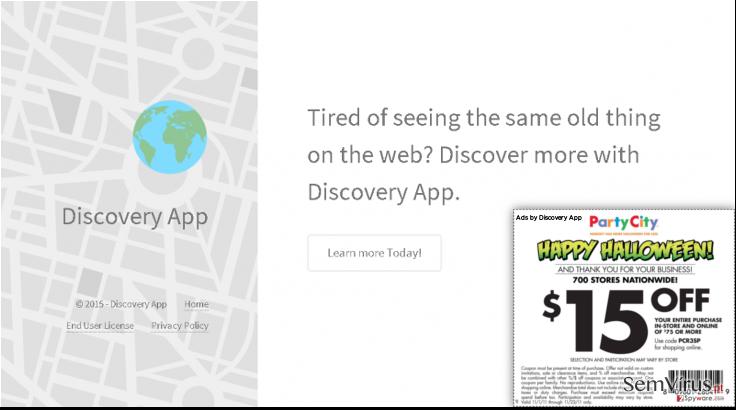Anúncios de Discovery App instantâneo