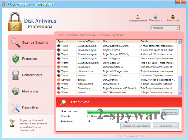 Disk Antivirus Professional instantâneo