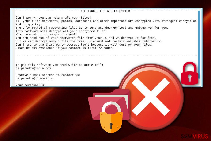Vírus ransomware Djvu