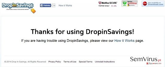 DropinSavings virus instantâneo