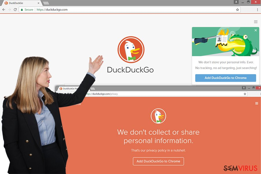 Website adware DuckDuckGo