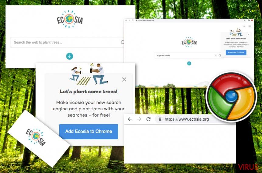 Vírus Ecosia.org instantâneo