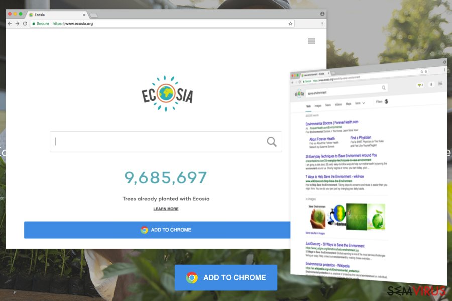 O exemplo do Ecosia.org