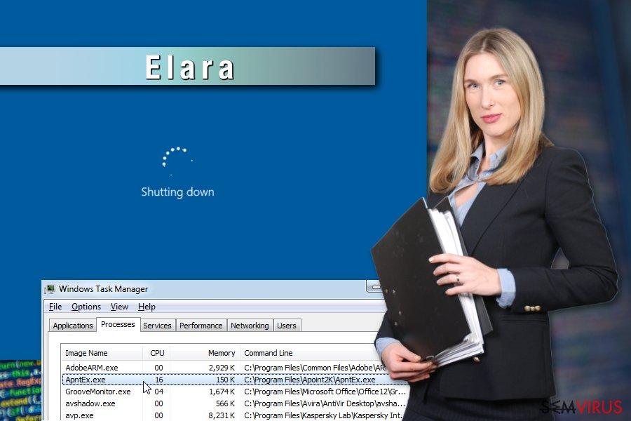 Exemplo do vírus Elara app
