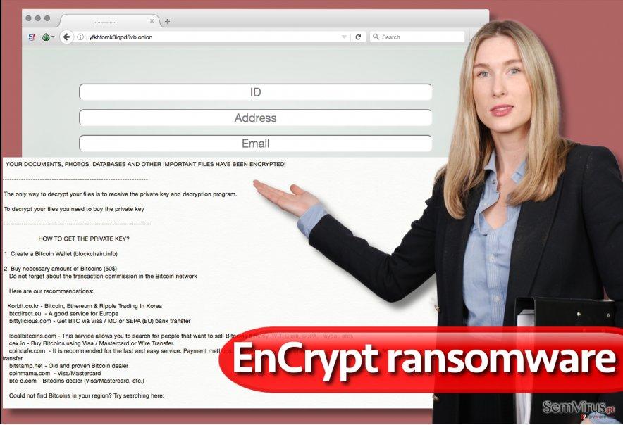 Vírus ransomware EnCrypt