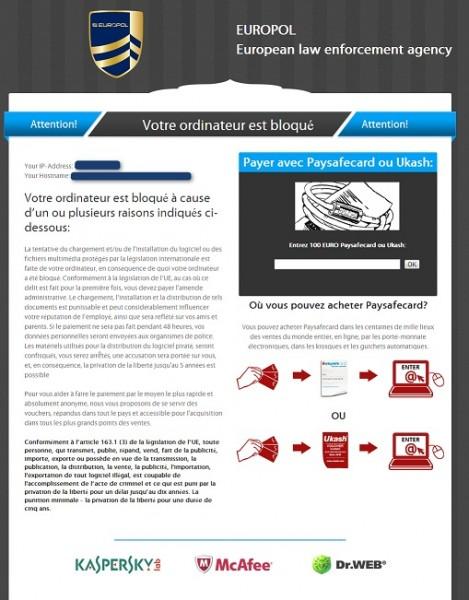 European Law Enforcement agency virus instantâneo