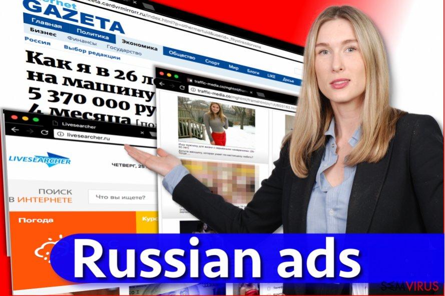 Vírus anúncios Russos