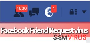 Vírus Facebook Friend Request instantâneo