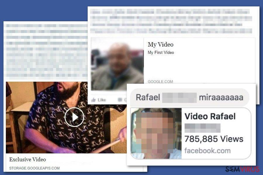 Vírus vídeo de Facebook instantâneo