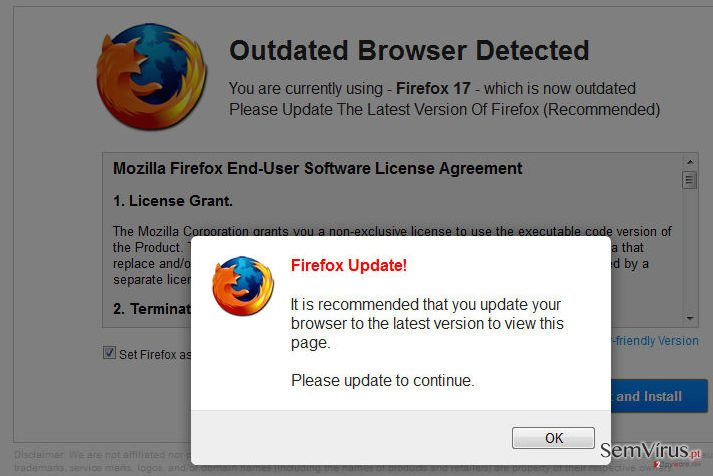 WARNING: Your Current Browser Is Outdated! instantâneo