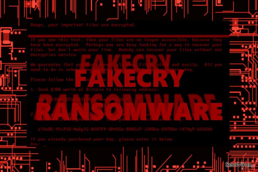 Vírus ransomware FakeCry