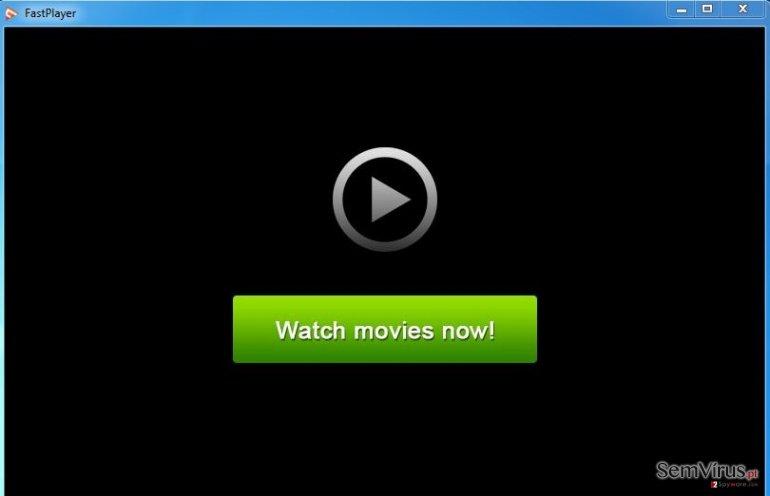 FastPlayer adware instantâneo