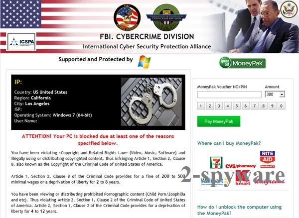 FBI Cybercrime Division virus instantâneo
