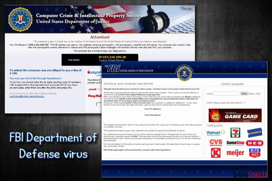 FBI virus instantâneo
