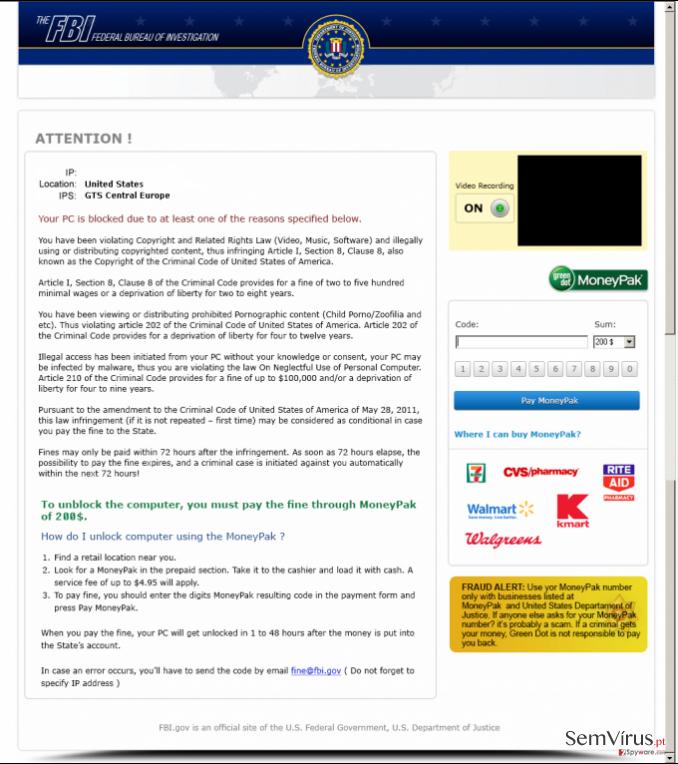 FBI Moneypak instantâneo