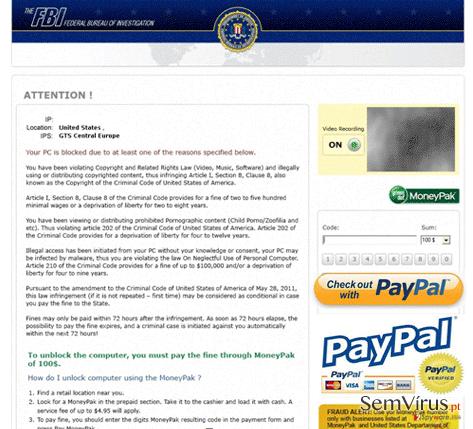 FBI PayPal virus instantâneo