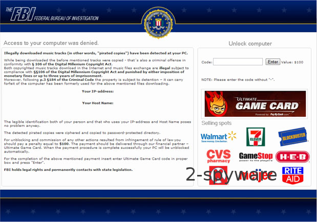 FBI Ultimate Game Card virus instantâneo