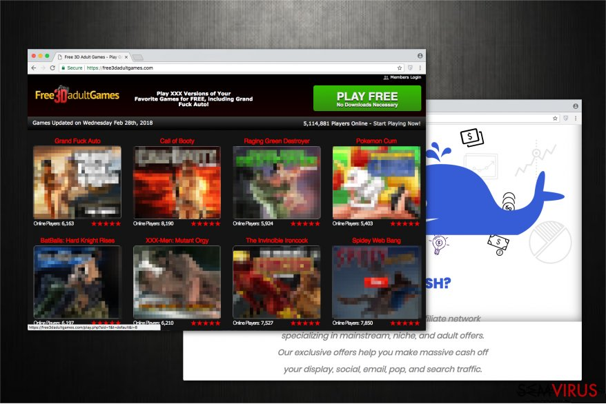The image of Free3dadultgames.com website