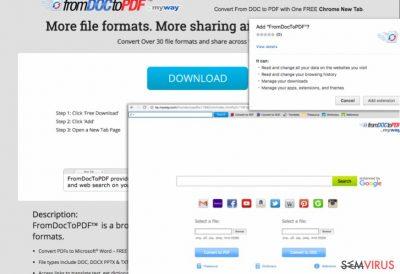 Capturas de ecrã do From Doc to PDF Toolbar