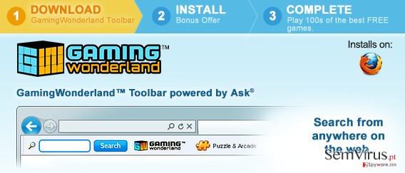Gaming Wonderland Toolbar instantâneo