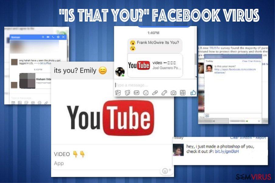 "Vírus do Facebook Messenger ""Is that you"""