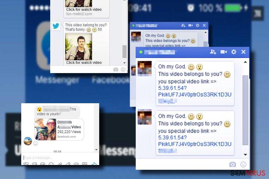 """Mensagem do vírus do Facebook """"Is that you"""""""