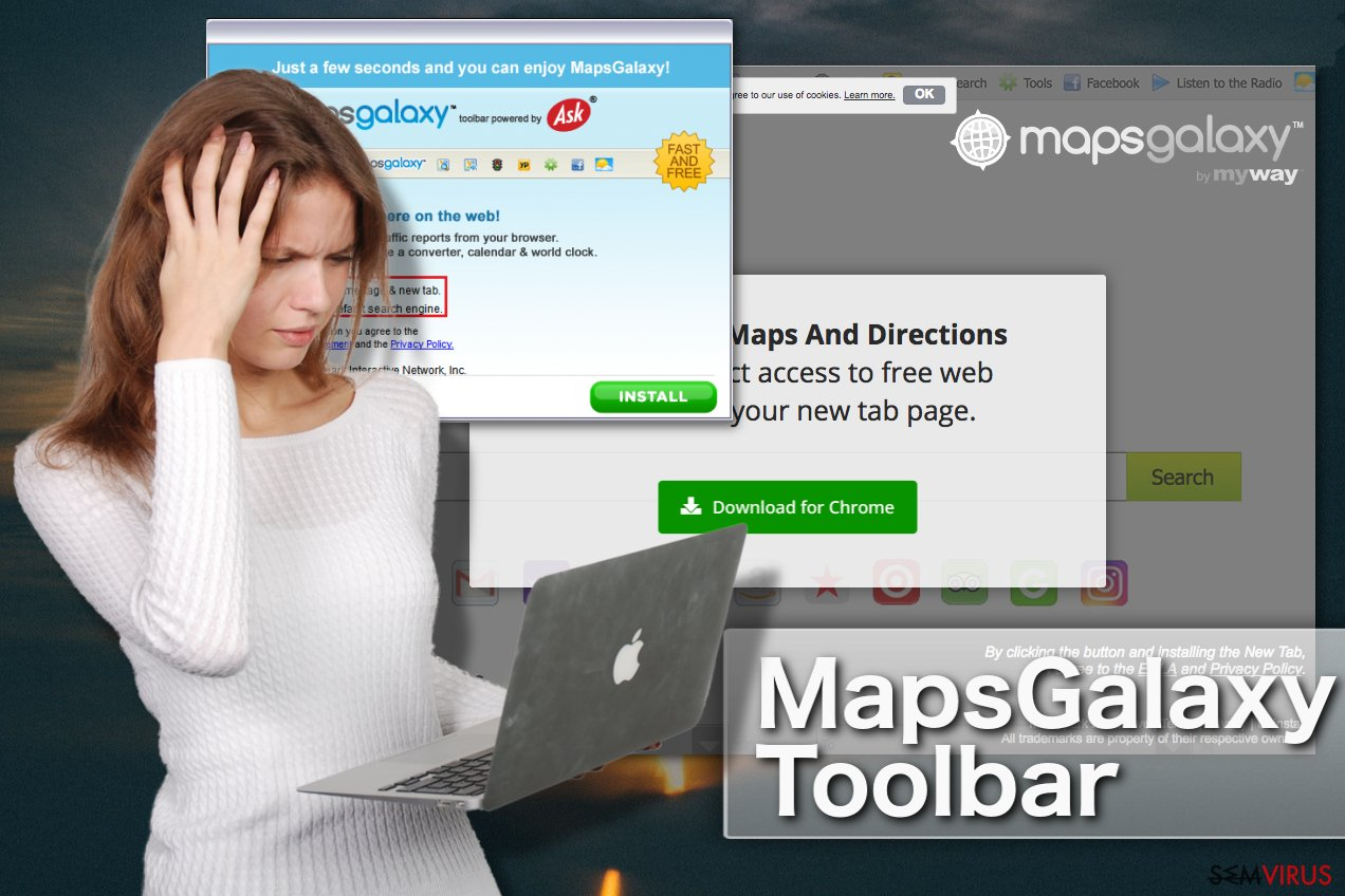 MapsGalaxy toolbar instantâneo