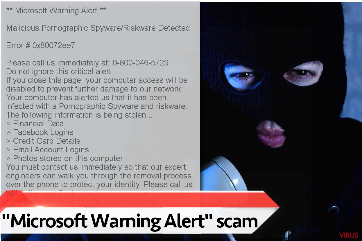 "Vírus ""Microsoft Warning Alert"""