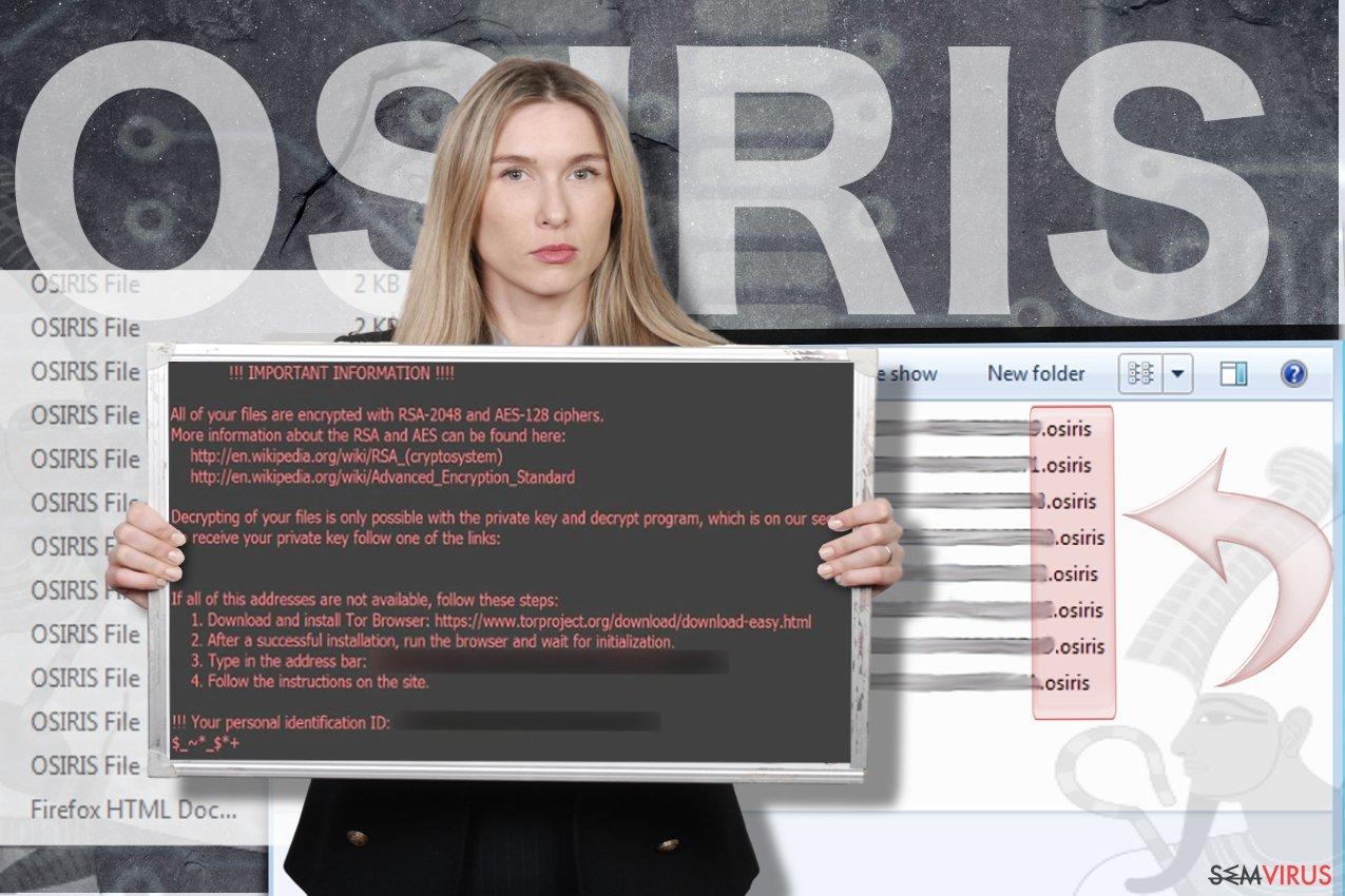 Vírus ransomware Osiris instantâneo