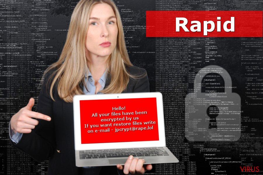 Imagem do ransomware Rapid