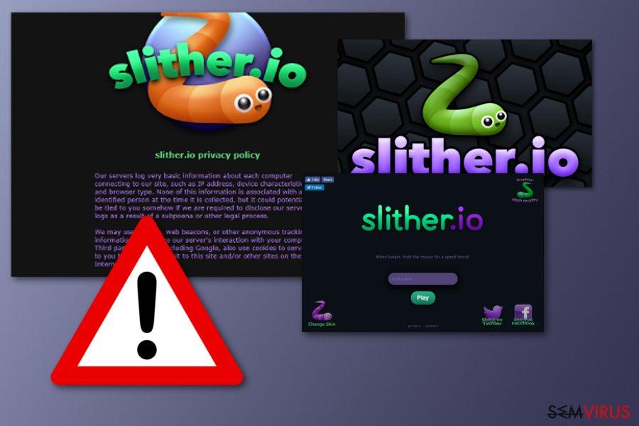 Aplicação indesejada Slither.io