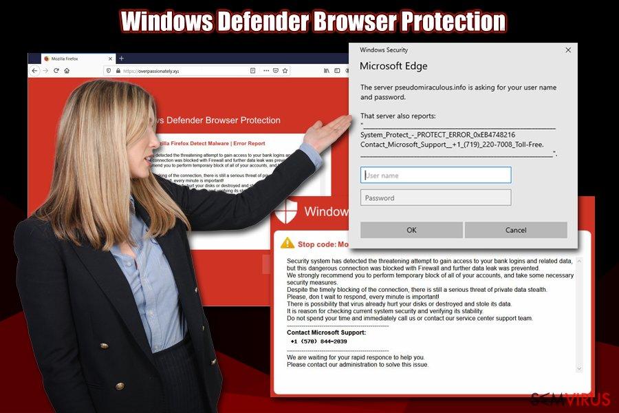 Fraude Windows Defender Browser Protection